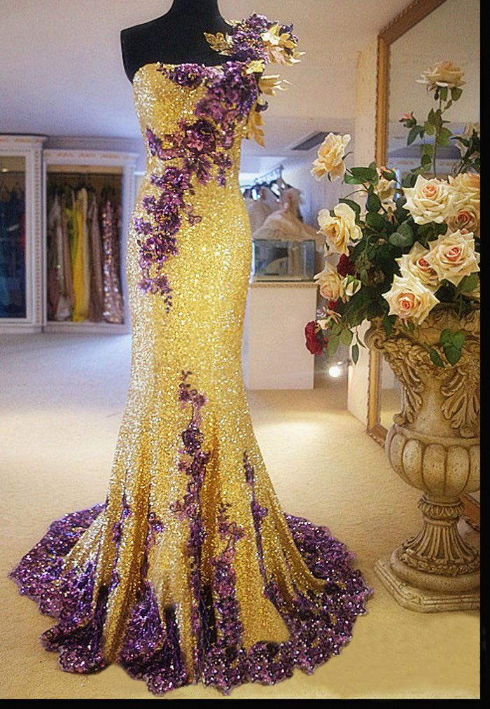 Yellow And Gold Prom Dresses 11
