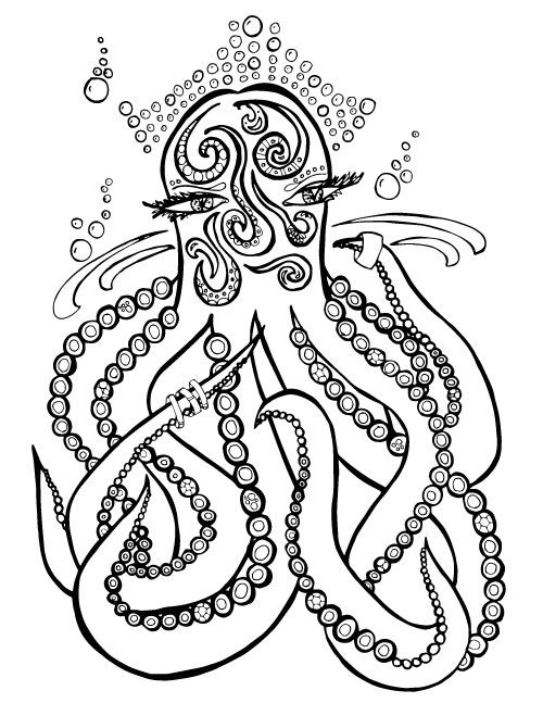 Sea Themed Coloring Pages For Adults