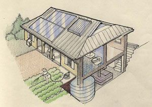 The Earth Home system is a fully integrated self sufficient building system, using local materials to meet all the needs of the occupants for comfort, water, sanitary waste, electricity, hot water and cooking, without the need for central power, water or sewer. The Earth Home is fully integrated into the natural energy flows and organic processes of the local environment. Earth Home uses the sun to heat the home, heat water, cook food and to generate electricity. Clean rain water is…
