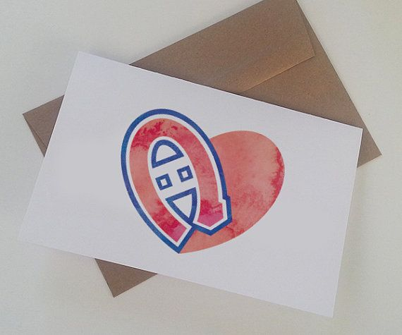 For all the Montreal Canadiens lovers... #valentine #hockey #card