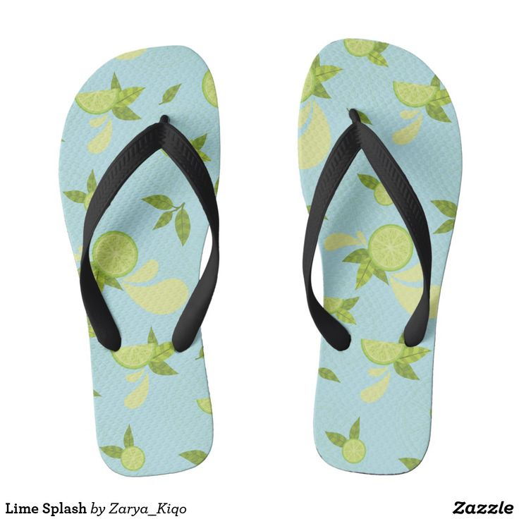 Lime Splash  - a citrus inspired pattern in flip flops