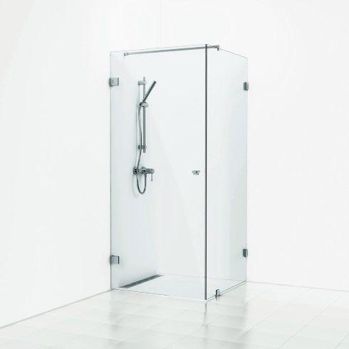 180° hörndusch fast vägg/dörr