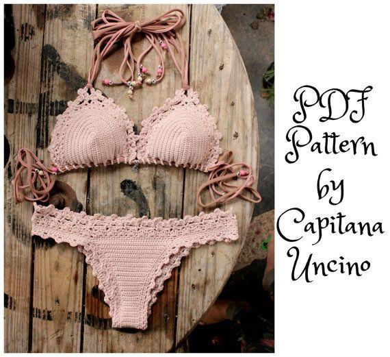 PDF Crochet PATTERN for Lorelei Crochet Bikini por CapitanaUncino