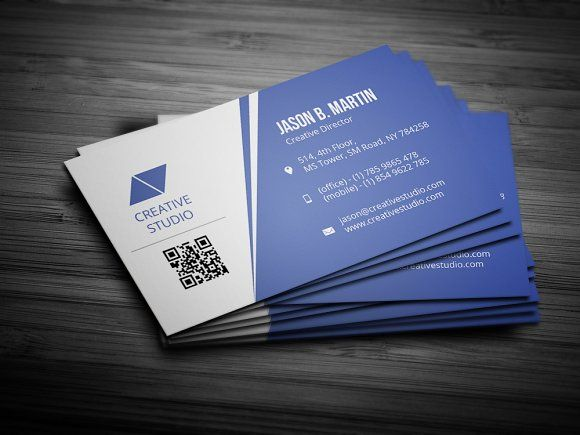 Creative Blue Business Card Blue Business Card Business Cards Creative Templates Business Card Template Design