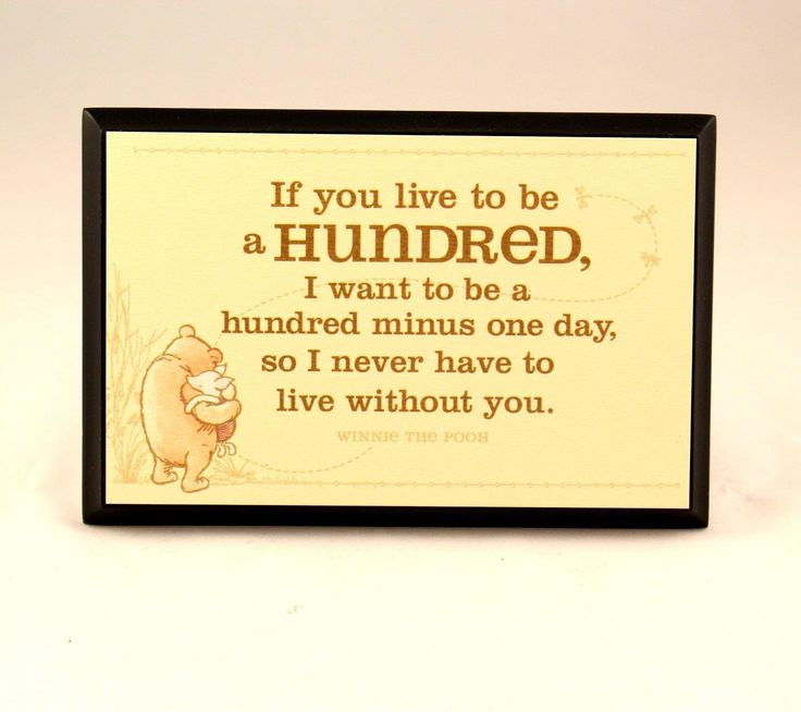 True friends, Pooh and Piglet, are pictured on this plaque along with one of Pooh's most famous quotes about friendship. Celebrate an enduring friendship with this special piece. On plaque: If you liv