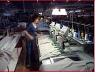 The embroidery department