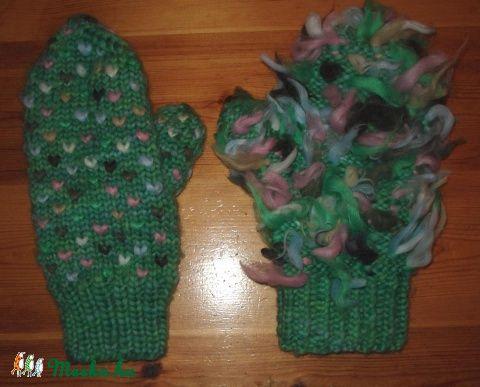 Gyapjú,meleg,bélelt kötött  kesztyű (Tunderbatyu) - Meska.hu