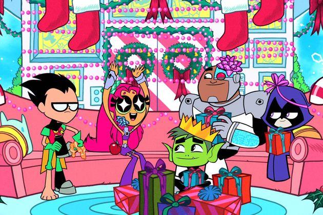 #Teen #Titans #Go. (Teen Titans TV Cartoon Show) On: CNN. (THE * 5 * STÅR * ÅWARD * OF: * AW YEAH, IT'S MAJOR ÅWESOMENESS!!!™) ÅÅÅ+