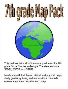 Updated Georgia 7th Grade Social Studies Map Pack | School - Social