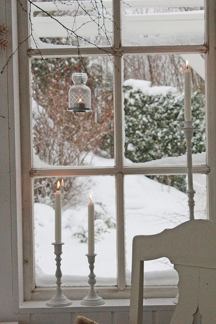 There's something so right about sitting at a window and watching the snow fall.
