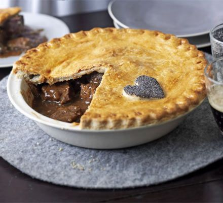 Beef & Beer Pie        Home      Recipes      Blog      Healthy      Seasonal      Know-how      Wine      Competitions      Shopping      Magazine    Sub Navigation for Recipes        A-Z of recipes      Cakes      Cuisines      Favourites      Healthy      Ingredients      Occasions      Special diets      Vegetarian      Features    Good Food magazine Subscribe now  Beef & beer pie  Beef & beer pie    A steak and ale pie