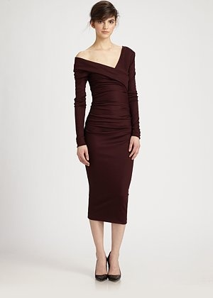 Diane von Furstenberg Bentley Ruched Dress, bought this also, my dinner date dress ;) amazing fit