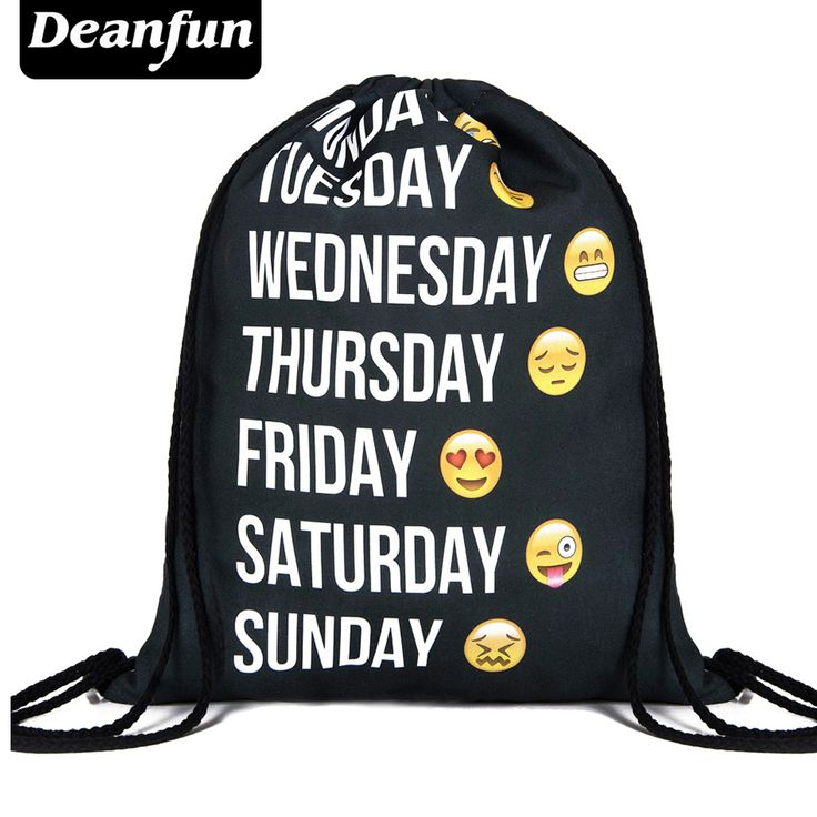 Deanfun 2016 new fashion backpack 3D printing travel softback man women harajuku drawstring bag mens backpacks [Affiliate]