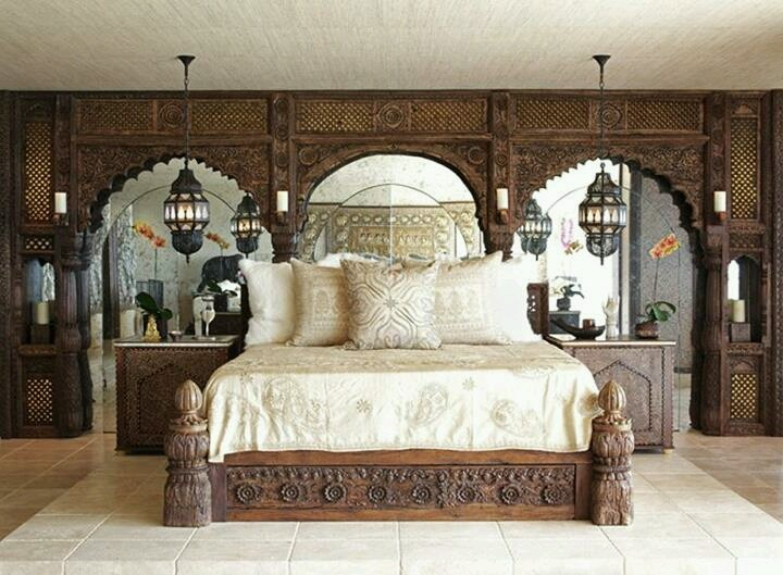 Indian inspired bedroom a taste of india pinterest for Indian bedroom design photos