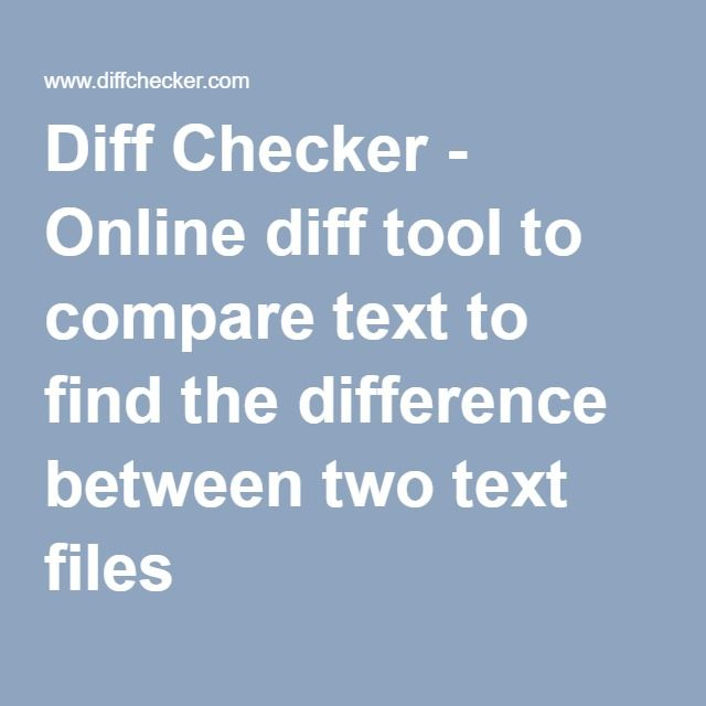 Diff text compare online dating 3