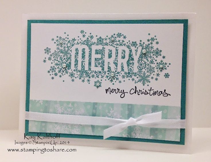 Seasonally Scattered Merry Christmas with Step by Step How To Video, Kay Kalthoff is Stamping to Share with Stampin' Up!, Good Greetings, All is Calm Specialty Designer Series Paper, #stampinup, #stampingtoshare
