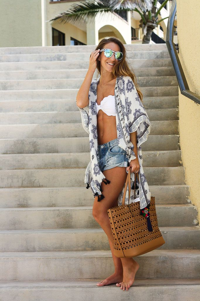 To the Beach: Kimono Cover Up | Twenties Girl Style