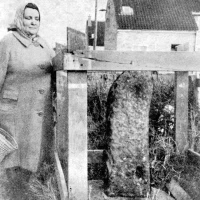 10) Guisborough, North Yorkshire, England (Mrs Vera Bulman and the Leper Colony marker stone at Hutton Estate)