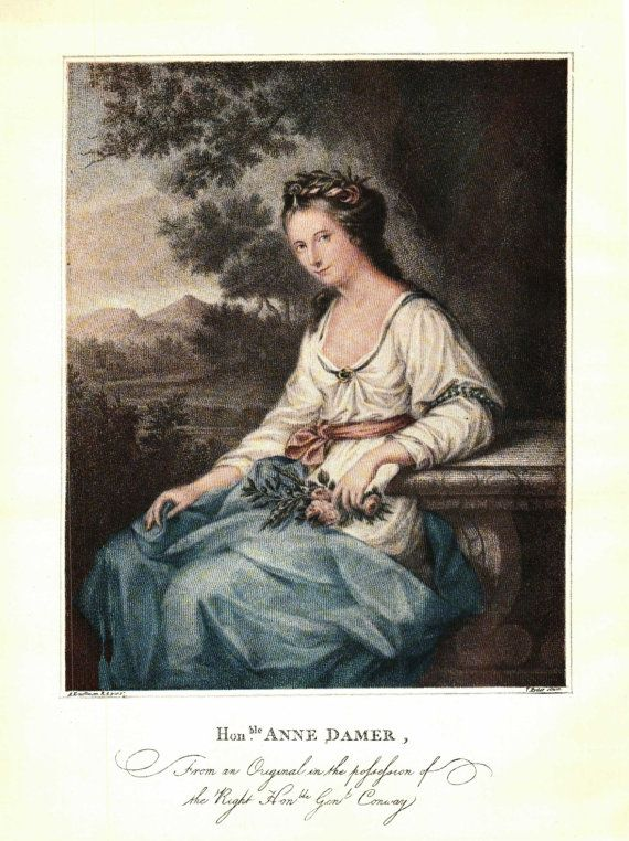 The Hon. Anne Seymour Damer As Ceres Angelica Kauffmann from the Oil Painting Connoisseur Magazine 1800s - 0018