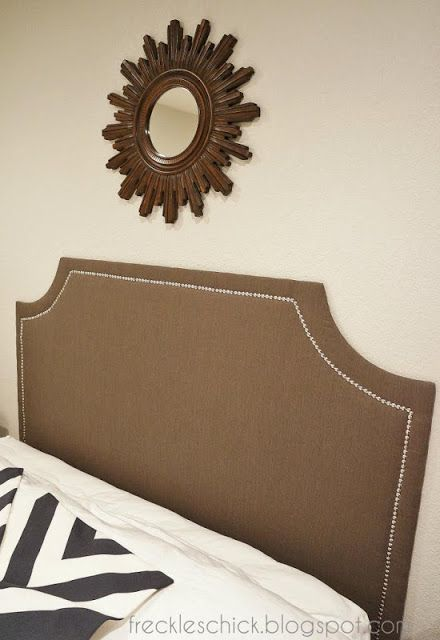 DIY upholstered headboard with nailhead trim (the sequel)