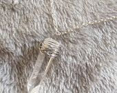 Clear Quartz Crystal Wire Wrapped Necklace