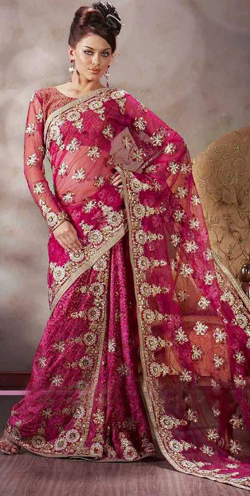 Best 25 bridal sarees ideas on pinterest south silk for Sari furniture designer