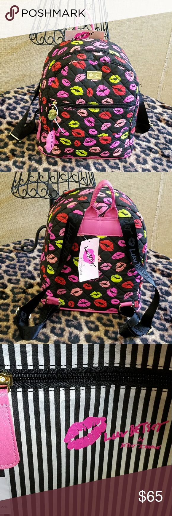😗NWT-BETSEY JOHNSON KISS BACKPACK! 💕NWT-BETSEY JOHNSON KISSED BACKPACK! THIS SUPER CUTE KISSES BACKPACK OFFERS A LARGE ZIPPER COMPARTMENT AND A FRONT ZIPPER COMPARTMENT. MEDIUM SIZE WITH PLENTY OF ROOM FOR ALL YOUR ITEMS! JUST A GREAT DESIGN INSIDE & OUT.   🌹NWT- BRAND NEW WITH TAGS 🌹100% AUTHENTIC 🌹SAME DAY SHIPPING 🌹OFFERS ACCEPTED THROUGH THE OFFER BUTTON 🌹NO TRADES   🚫PLEASE FOLLOW BOUTIQUE RULES AND BE RESPECTFUL THIS IS A BUSINESS THANK YOU😊 Betsey Johnson Bags Backpacks