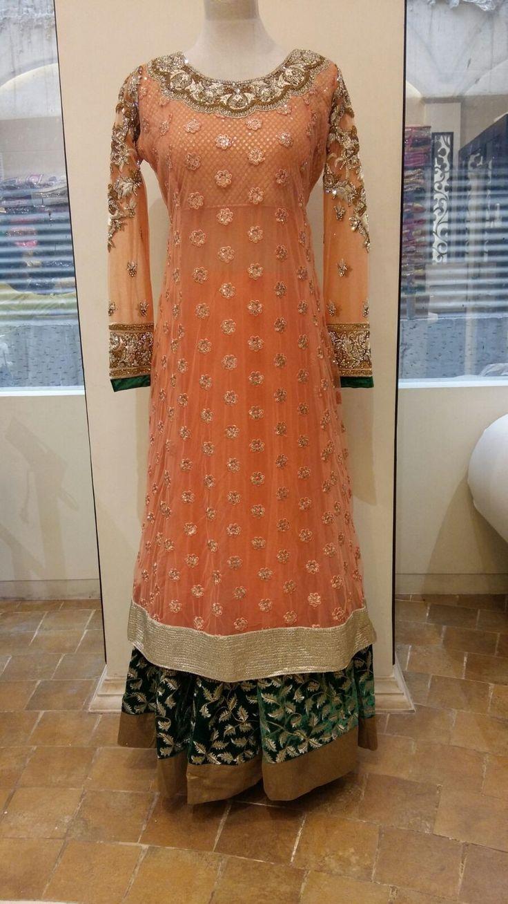 One of a kind heavy designer Anarkali suit - Bollywood