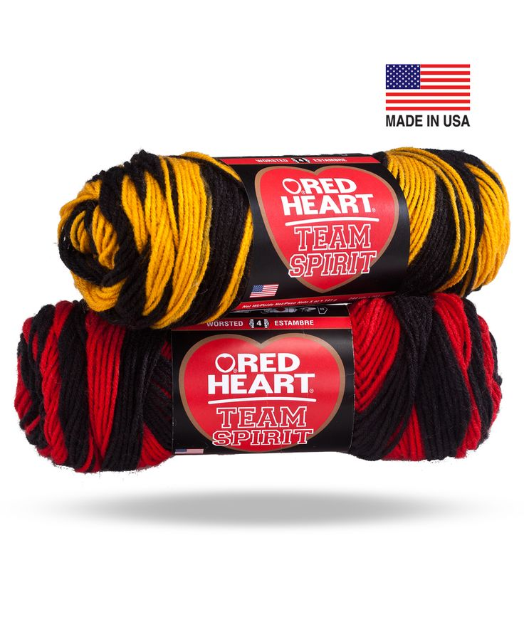 Team Spirit: Spirit Yarn, Craft, Heart Team, Yarns, Team Spirit, Crochet Patterns, Red Hearts, School Colors