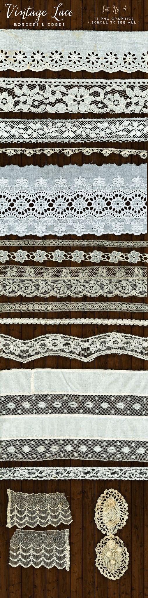 Scrapbook ideas no pictures - Vintage Lace Borders Edges No 4 Avalon Rose Design