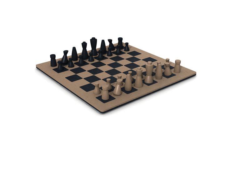 Chessboard, made of Naturalia by Arpa, PeLi design.