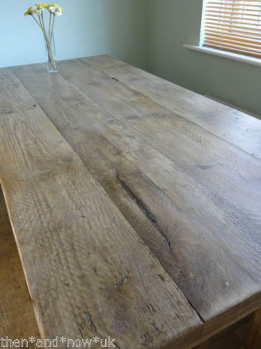 Hand Built Solid Wood Dining Table Reclaimed Scaffold Boards *EXTRA CHUNKY* | eBay
