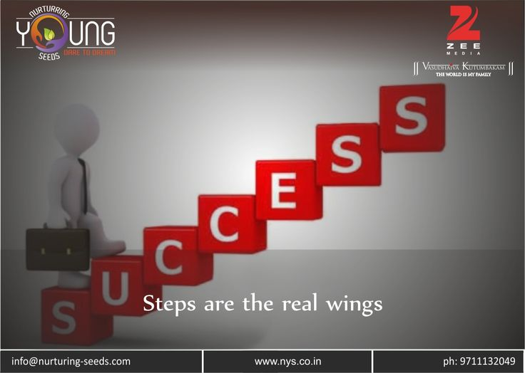 Steps are the real wings !!!! Standing at the base and merely looking at third floor will not let you reach there automatically. You have you climb stairs for that. Similarly, to reach you ultimate goal........ Read more at: http://bit.ly/2iH0I2x