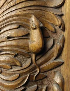"""Robert Thompson, artist-craftsman of North Yorkshire, UK .""The Mouseman of Kilburn."""