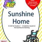 """Integrated Unit using Eve Bunting's """"Sunshine Home"""".  Writing, math, drama, comprehension, service project, etc. $"""