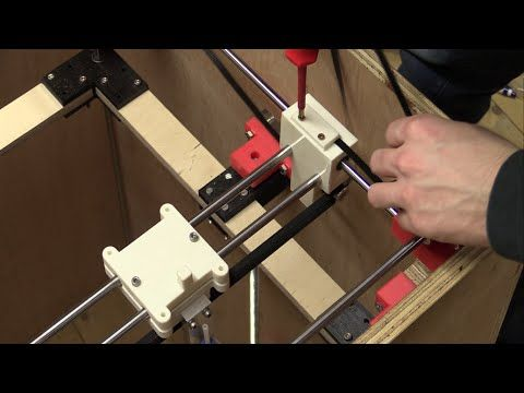DIY 3D-Printer Build (From Scratch) - Part 6b: Installing Belts, Testing Electronics - Ec-Projects - YouTube