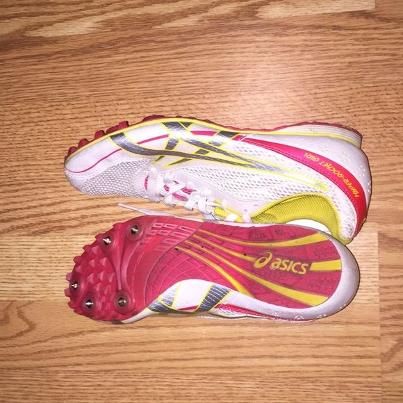 Hyper-Rocket Girl, asics running spikes These asics running spikes are great but they are a size too small for me. The spikes are getting a little worn but it's easy to replace them. These work great for both short & long distance running. asics Shoes