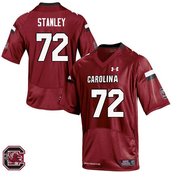 Men South Carolina Gamecocks  72 Donell Stanley College Football Jerseys  Sale-Red 921682402