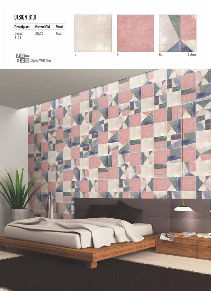 Get Your Hands On Millennium Tiles Watercolour Design Wall To Decorate Home 8101 Matt 200x200mm 8x8 Digital Ceramic