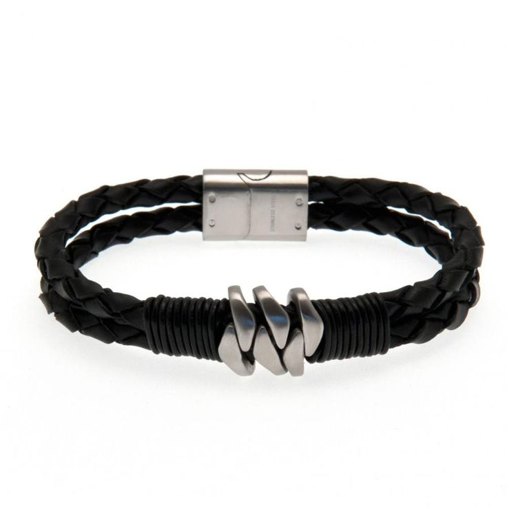 Leather Bracelet Stainless Steel Clasp Approx 21cm In A Gift Box Official Licensed Product Product model: o14lbrto