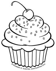 Cute Cupcake Coloring Pages | ... Vicky and Stan! Didn't bake you a cake, but I drew you a cupcake! Yum
