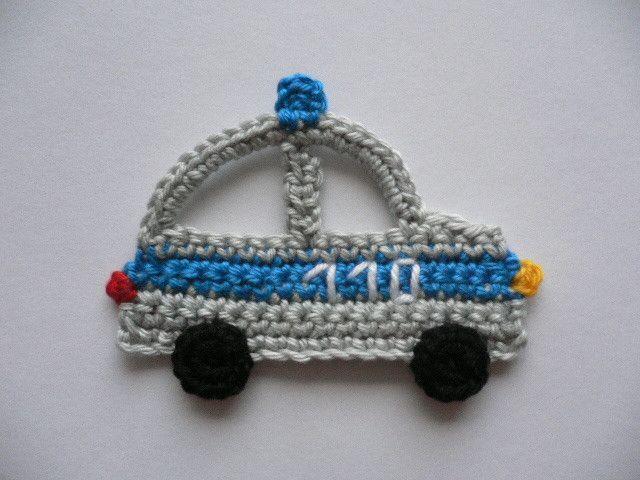 CROCHET POLICE CAR