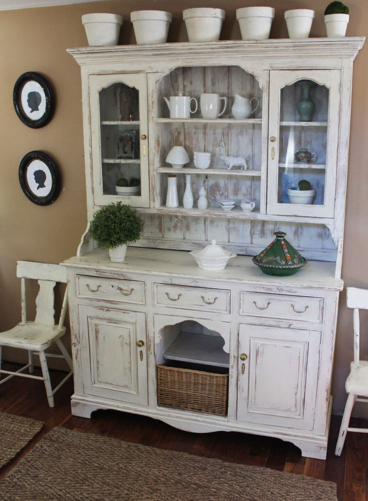 White Distressed Furniture best 25+ distressed hutch ideas on pinterest | antique hutch
