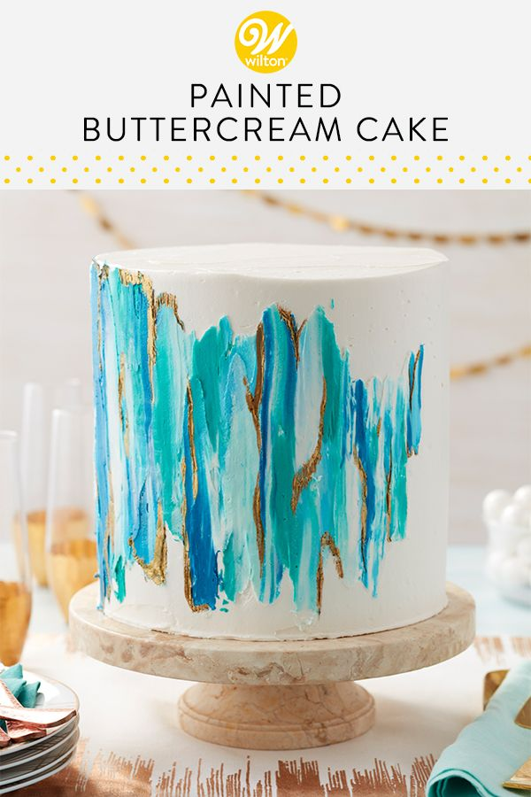 Blue Teal And White Splashes Of Icing Combined With Glints Of