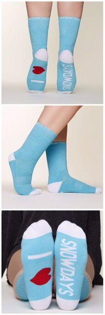 I Love Snowdays Socks by Arthur George