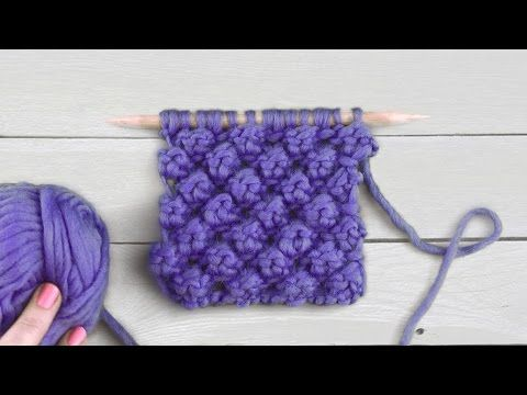 How to Knit the DAISY FLOWER STITCH - YouTube