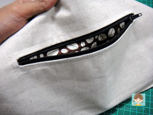 Cara Menjahit Kantong Resleting ( Zipper Pocket Bag )