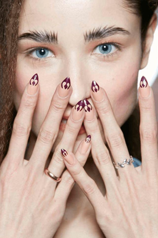 7 best NYFW 2016 Nail Art Designs images on Pinterest | Best nail ...