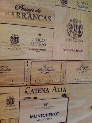 Wine boxes.