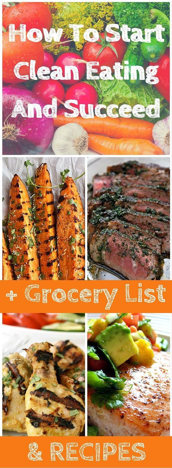 How To Start Clean Eating and Succeed! Great for Clean eating beginners or any one a health journey wanting to kick start their health. Within this post you get access to a clean eating grocery list a